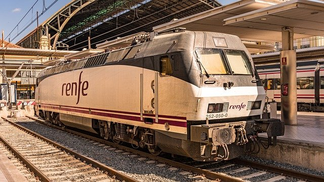 Locomotive of RENFE - the Spanish railway operator