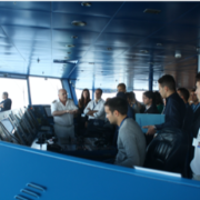 Participants listening to the crew during the bridge workshop - MOST course