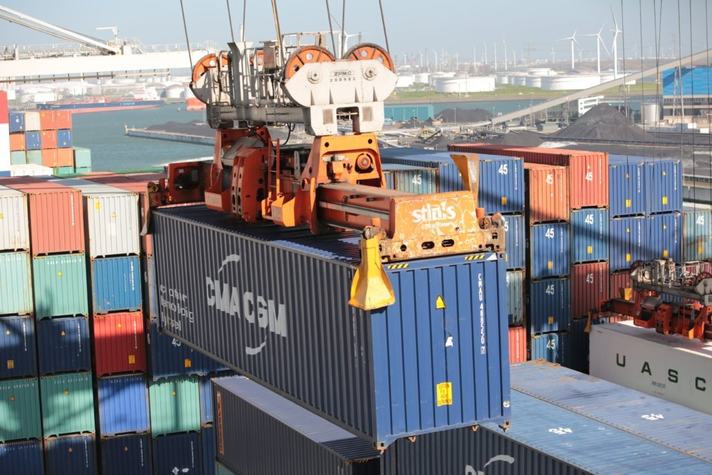 Container operations at the Port of Rotterdam